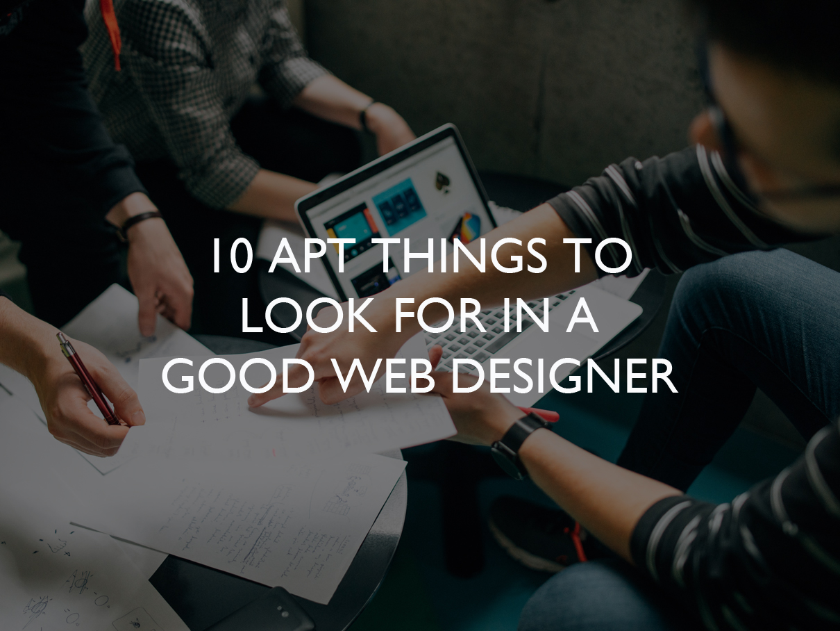 10 Apt Things To Look For In A Good Web Designer