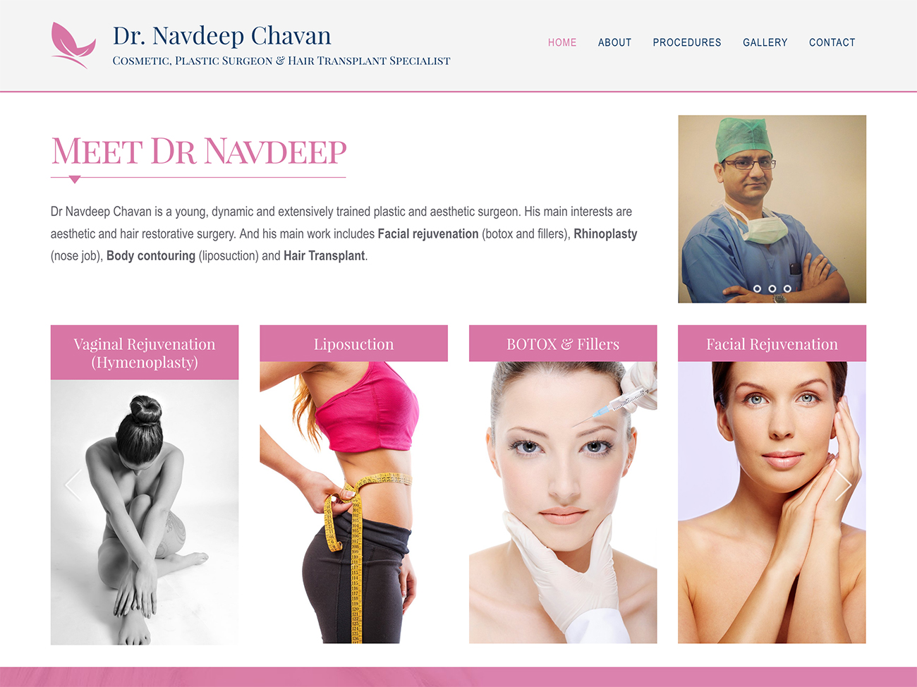 website design and development for cosmetic surgeon