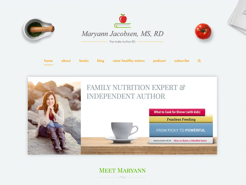 MaryannJacobsen.Com — Website Re-design & Logo Design for Maryann Jacobsen